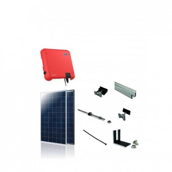 3kW solcelle pakke til stockskruer