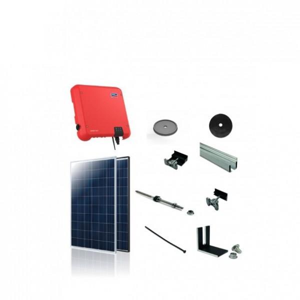 3kW solcelle pakke til tagpap