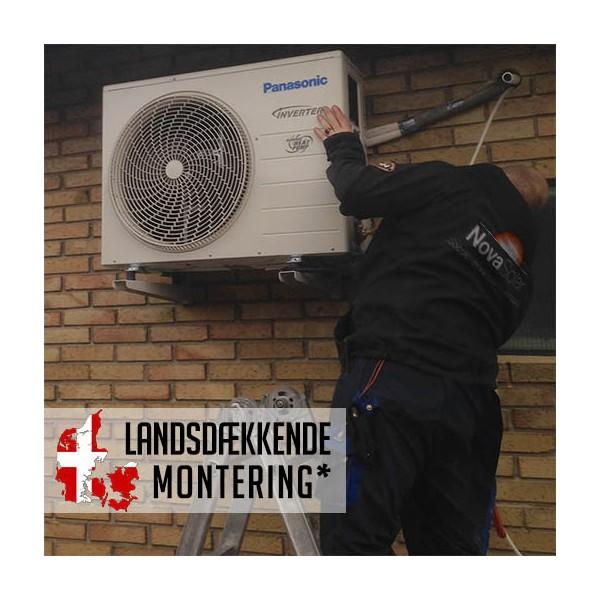 Standardmontage - luft til luft varmepumpe