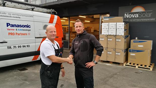 Karsten Pedersen og Henrik Amby Pedersen hos NovaSolar A/S